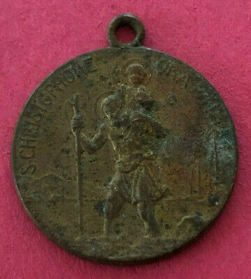 Sterling Silver St Frances Rome Medal Antique Reproduction