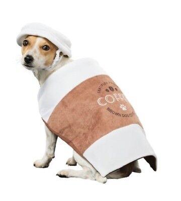 Halloween Dog Costume Coffee Cup Latte Takeaway Fancy Dress Outfit & - Cup Kostüm Halloween