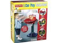 Fisher-Price Kids Adjustable Basketball Stand Activity Indoor/Outdoor Toy 12months Onwards