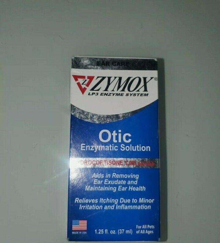 ZYMOX OTIC 1.25 oz  1.0 % Hydrocortisone Dog Cat Ear Drops Infection Treatment