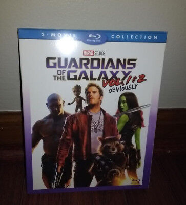 Guardians Of The Galaxy Vol  1   2 Blu Ray Two 2 Movie Marvel Collection Set New
