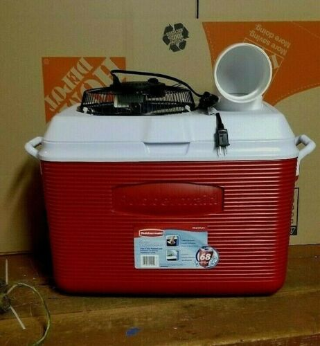Onos Red 48qt Portable Air Conditioner Home Camping Ice Chest Swamp Cooler 110vt