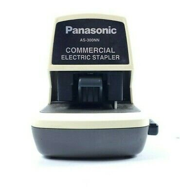Vintage Panasonic Electric Stapler As-300nn Commercial Desk Top Heavy Duty