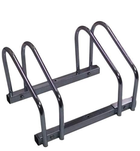 EasyGo Floor Stationary Triple Bike Wheel Rack Indoor Outdoor Bike Stand
