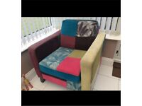 Patchwork Sofa and armchair