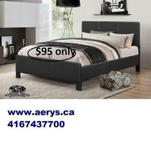 Queen bed on sale $99 only with mattress support visit our website www.aerys.ca for more items