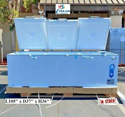 New 105 Chest Deep Freezer Top Lid Market Meat Fish - 105 X 37 X 36 - 110v