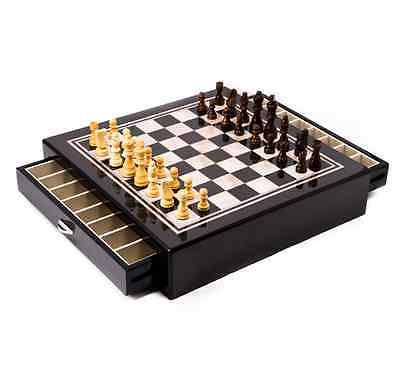 Brown Deluxe Board - Chess Sets And Boards Deluxe With Storage And Pieces Wood Inlaid Mother Of Pearl