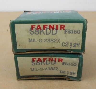 Lot Of 2 Nib Fafnir S8kdd Ball Bearing 0.75 X 1.625 X 0.4375 Double Shielded
