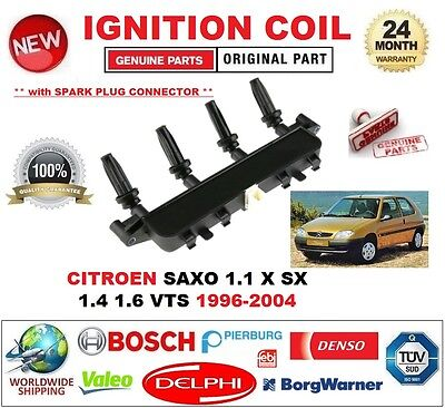 FOR CITROEN SAXO 1.1 X SX 1.4 1.6 VTS 1996-2004 IGNITION COIL 4-PIN CONNECTOR