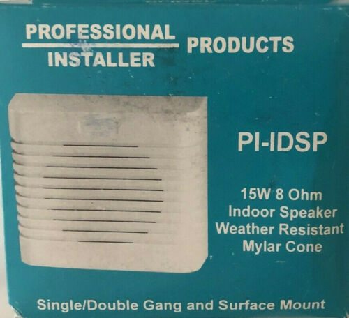 Security Speaker Professional Installer Products PI-IDSP 15W 8 OHM Indoor New