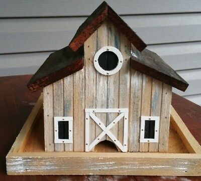 Little Old Barn Bird Feeder Solid Cedar Wood Handcrafted in USA