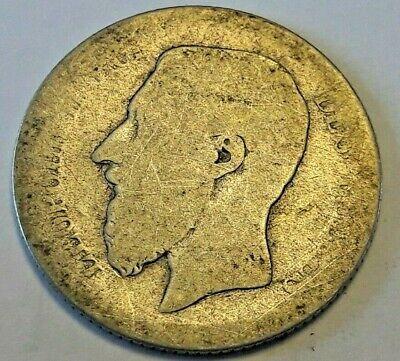 1 Franc Leopold II 1 Frank Leopold II 1867 Fr Belgique Belgïe Silver KM# 28