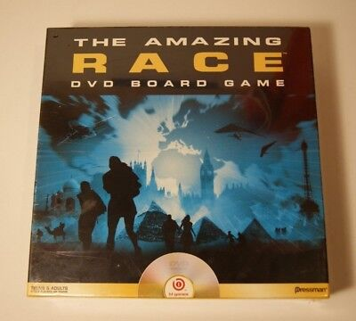The Amazing Race DVD Board Game 2006 Pressman b1 Games Brand New Factory Sealed ()