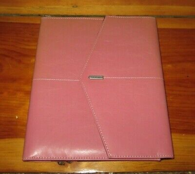 Rolodex Resilient Pink Leather Professional Journal Rol1734453 Breast Cancer Awa