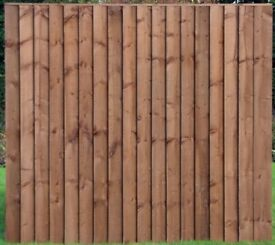BRAND NEW Feather Edge/Closed Board Fence Panels - Brown or Gold