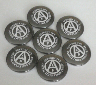 1x Support Animal Liberation Front Button Vegan Animal Rights