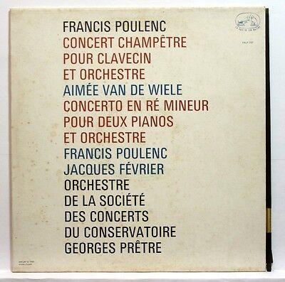 Asdf 737 Jacques Fevrier   Poulenc Concertos Emi Stereo Fr Lp Orig
