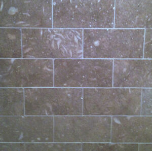 "Honed Limestone tiles - 3"" x 6"" - Seagrass"