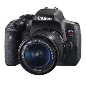 Canon EOS Rebel T6i Camera, Extra Battery, 128GB Card and Bag