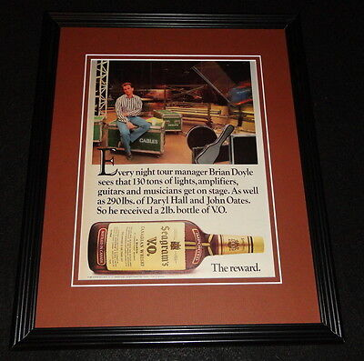 1985 Seagram's V.O. VO Whiskey 11x14 Framed ORIGINAL Vintage Advertisement