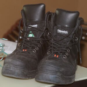 HARLEY DAVIDSON Steel Toed Boots with side zipper