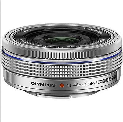 OLYMPUS M ZUIKO 14-42mm f3.5-5.6 EZ Lens Silver  (White Box)