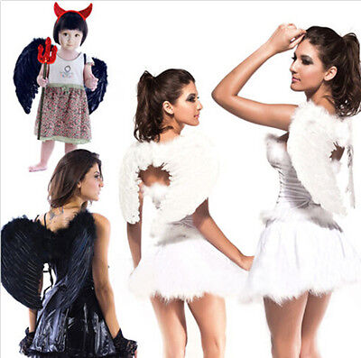 Fairy Wings For Adults (ADULTS KIDS FEATHER ANGEL FAIRY WINGS FANCY COSTUME ACCESSORY)