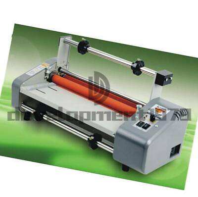 Roll Laminator Four Rollers Hot Cold Laminating Machine 220v A3 Paper 8350t