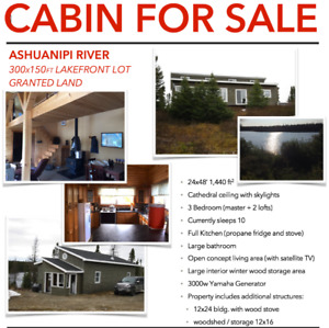 Cabin for Sale - Ashuanipi River (Granted Land)