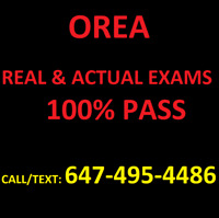 OREA EXAM & NOTES. REAL & ACTUAL EXAM Q/A - 100% PASS