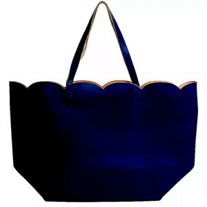 Large Blue Tote with Cosmetic Bag as a Bonus