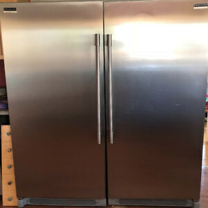 Moving sale, must sell fridge and freezer with ice maker.
