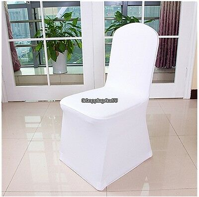 Folding Chair Seat Covers (White Spandex Folding Chair Covers Wedding Party Banquet Event Seat Cover 100Pcs )