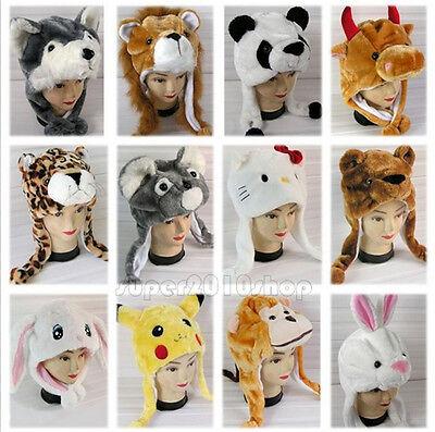 Hot Sale Plush Animal Hat Cartoon Fluffy Cap Unisex Best Gift For Him Or Her (Animal Hat)