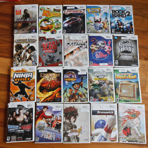 91 pieces of wii video games