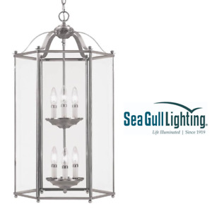 BRAND NEW Seagull Lighting 6-Light Hall and Foyer Fixture Clear