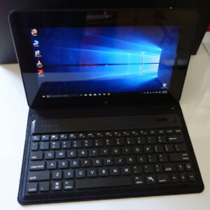 Dell tablet W10/webcam/HDMI/USB /SSD 64GB w removable keyboard