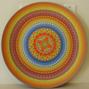 Original Hand Painted Large decorative plate 20""