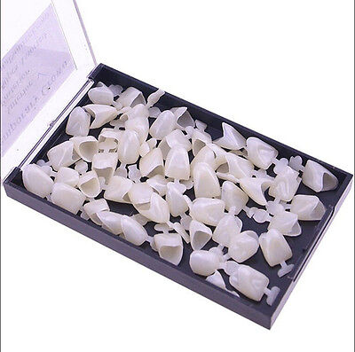 50pcs Dental Temporary Crown Veneers Anteriors Front Synthetic Resin Teeth Ez
