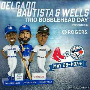 Blue Jays v Red Sox May 29 Section 233 Jays Trio Bobblehead Day