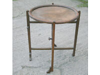 """Vintage Oak """"Revertable"""" Card or Games Folding Round Table - Deco 1920s or 1930s"""