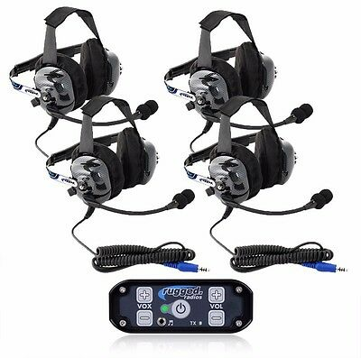 4 Seat 686 Intercom Kit w/ Ultimate Headsets - Offroad Racing Rugged Radios