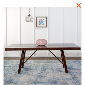 """Brand new 60 """" Trestle style expresso dining table"""