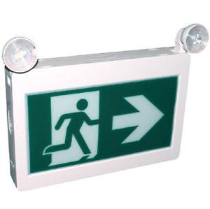 Running man exit sign with led light combo