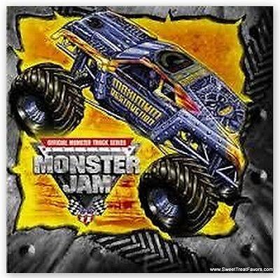 Monster Jam Trucks Party  Supplies NAPKINS CAKE Birthday Favors Boy Car - Car Birthday Cake