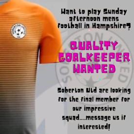 Quality Goalkeeper wanted!