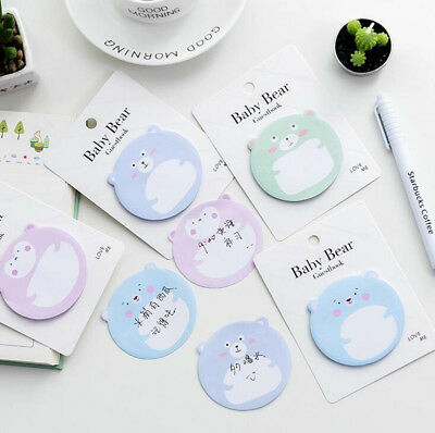 Cute Fat Bear Sticker Guestbook Memo Point It Sticky Notes Stationery Notepads