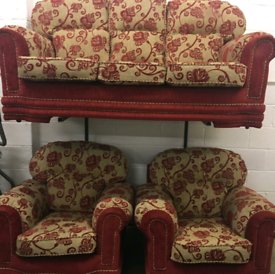 Settee and armchairs