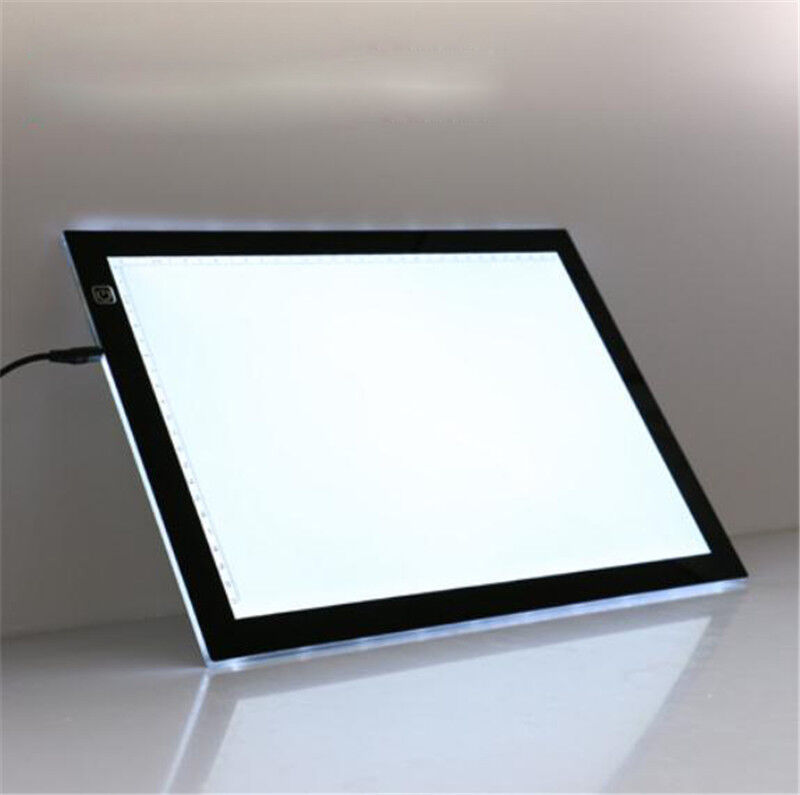ultra thin a3a4 led copy board craft tracing drawing stencil table pad light box. Black Bedroom Furniture Sets. Home Design Ideas
